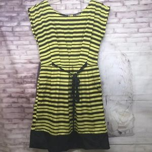 Be Bop Dress Sz. Small Yellow Black Striped